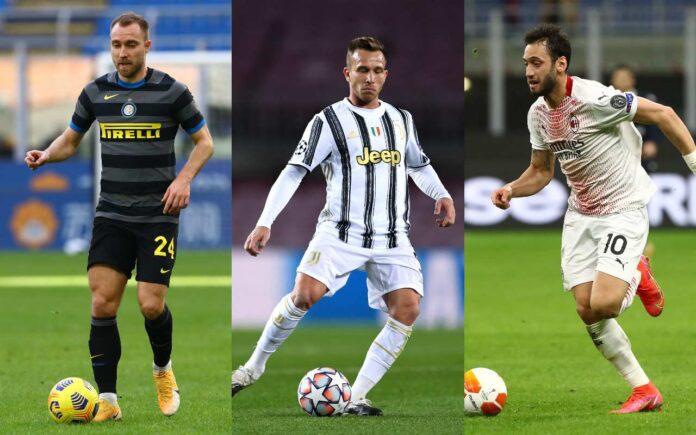 Inter, Juventus e Milan: le ultime sul centrocampo