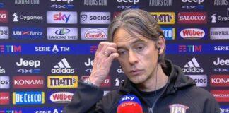 Juventus-Benevento, la felicità di Inzaghi