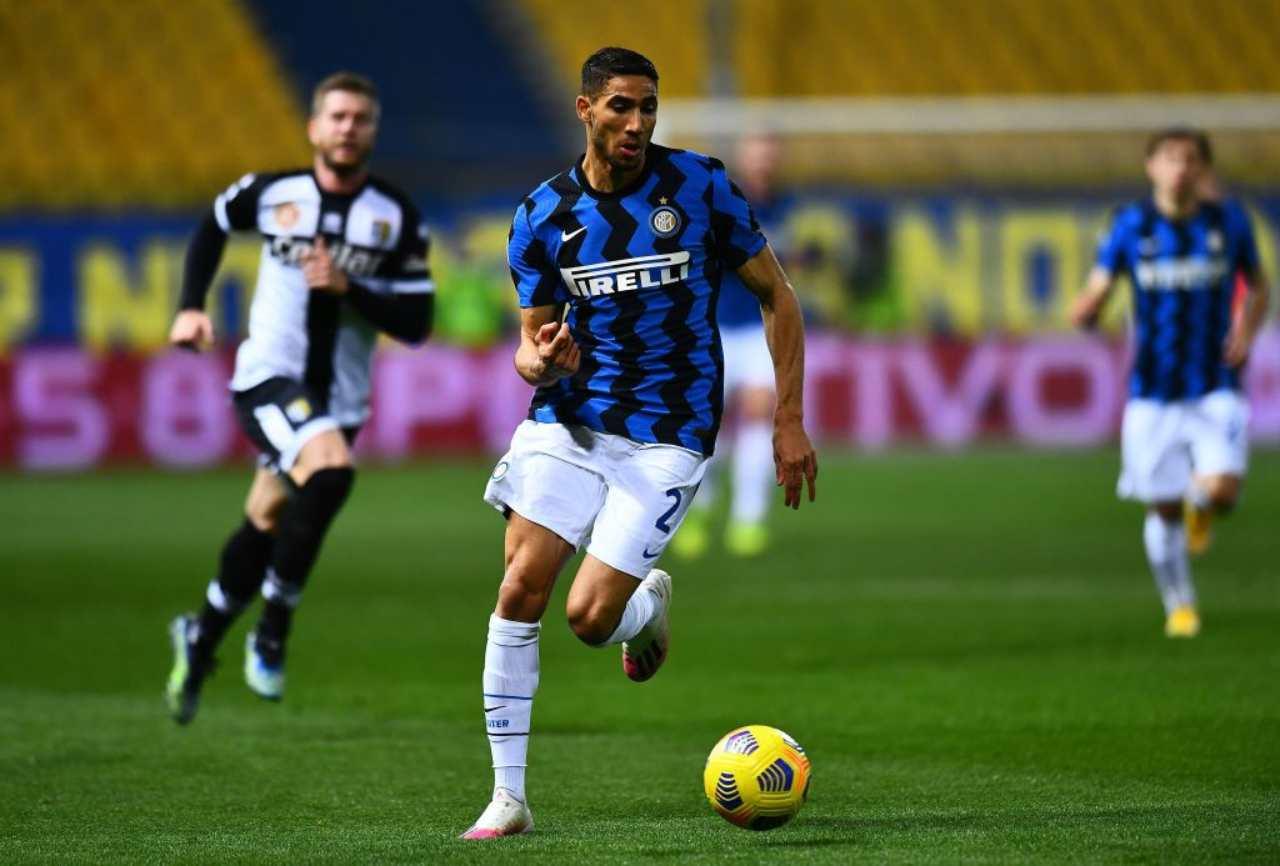 """Calciomercato Inter, Hakimi al Napoli   L'agente: """"Perché no"""""""