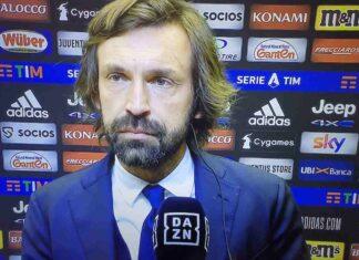 """Juventus-Lazio, Pirlo: """"Abbiamo regalato 20'. Kulusevski è un campione"""""""