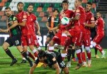 Calciatori del Perugia in azione