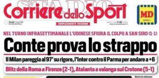 Corriere dello Sport, la prima pagina del 4 marzo 2021
