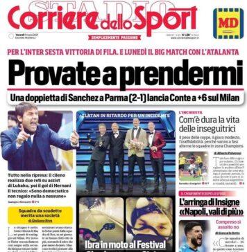 Corriere dello Sport, la prima pagina di oggi 5 marzo