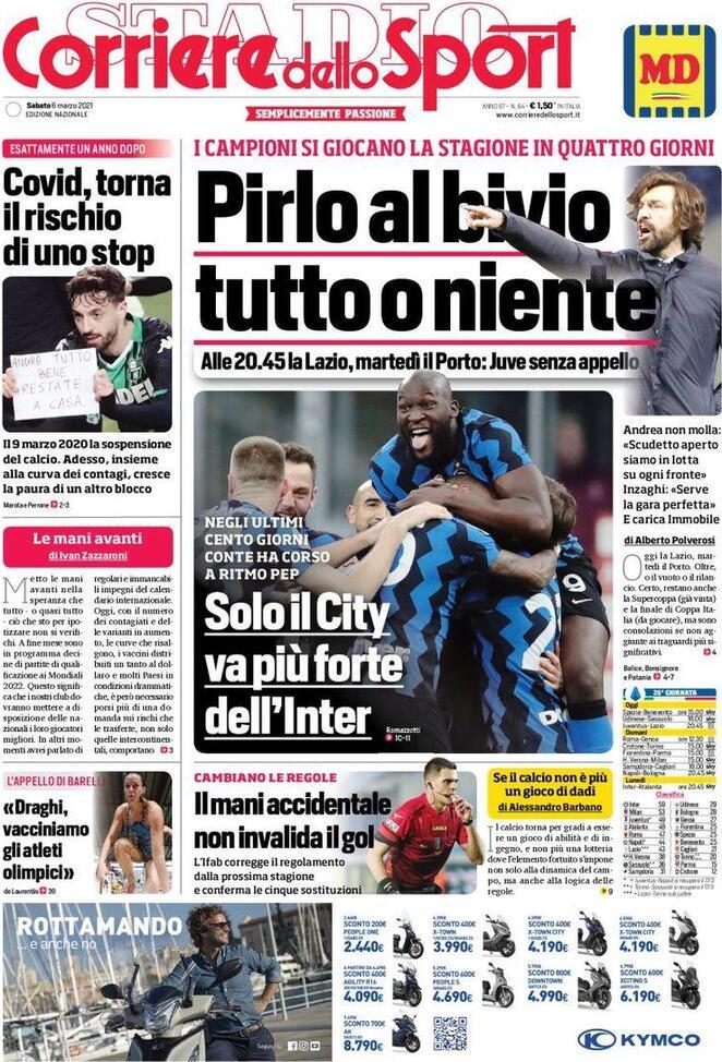 Corriere dello Sport, la prima pagina di oggi 6 marzo