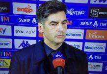 """Fiorentina-Roma, Fonseca: """"Con le big ci manca qualcosa"""""""