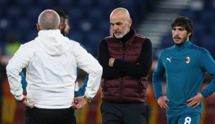 Stefano Pioli perde Kjaer per Milan-Napoli