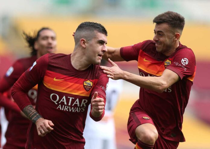 mancini el shaarawy roma genoa gol pagelle tabellino primo tempo
