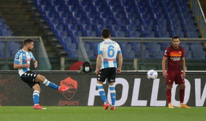 Serie A, Roma-Napoli 0-2: Gattuso batte Fonseca grazie a Mertens