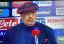 """Napoli-Bologna, Mihajlovic: """"Meritavamo noi, risultato fasullo"""""""