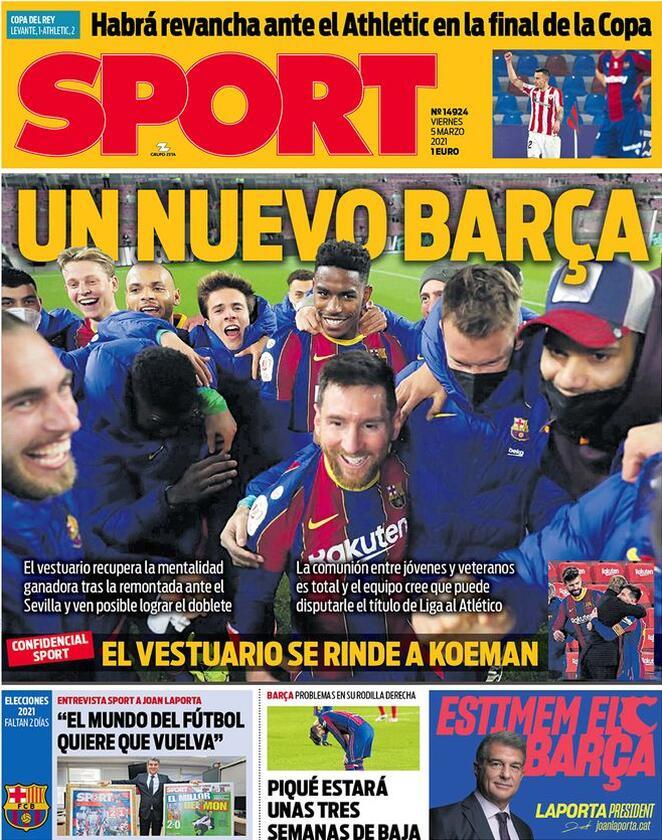 Sport, la prima pagina di oggi 5 marzo 2021