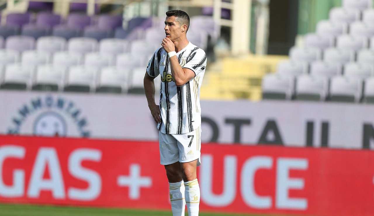 Cristiano Ronaldo deluso
