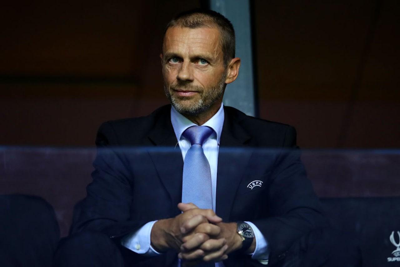 """UEFA, Ceferin: """"Chi resta in Superlega è fuori dalla Champions League"""""""