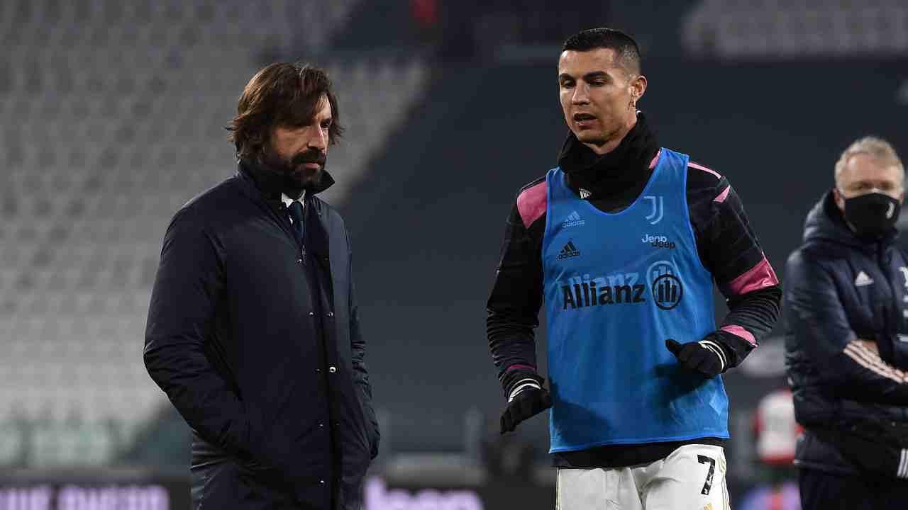 Juventus Cristiano Ronaldo out Pirlo