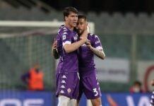 Fiorentina, Dusan Vlahovic in azione