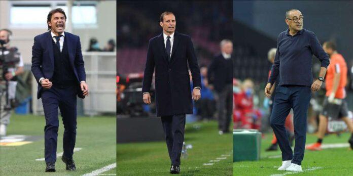 Panchine Serie A: da Allegri a Conte e Sarri