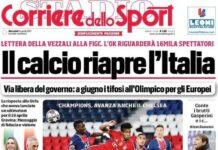 Corriere dello Sport, la prima pagina del 14 aprile