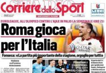 Corriere dello Sport, la prima pagina di oggi 15 aprile