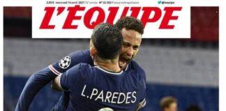 L'Equipe, la prima pagina di oggi 14 aprile 2021