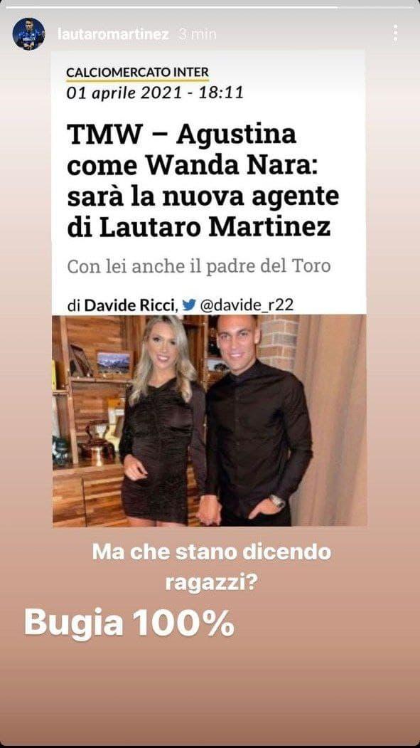 lautaro instagram agenti cambio