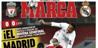 Marca, la prima pagina di oggi 15 aprile 2021