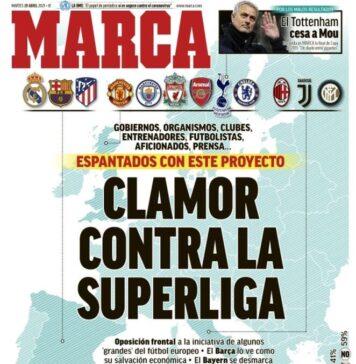 Marca, la prima pagina di oggi 20 aprile 2021