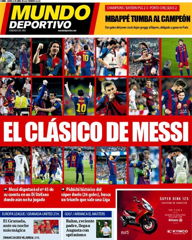 Mundo Deportivo, la prima pagina di oggi 8 aprile 2021