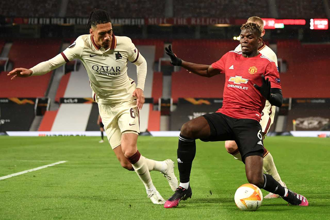 pogba smalling manchester roma pagelle