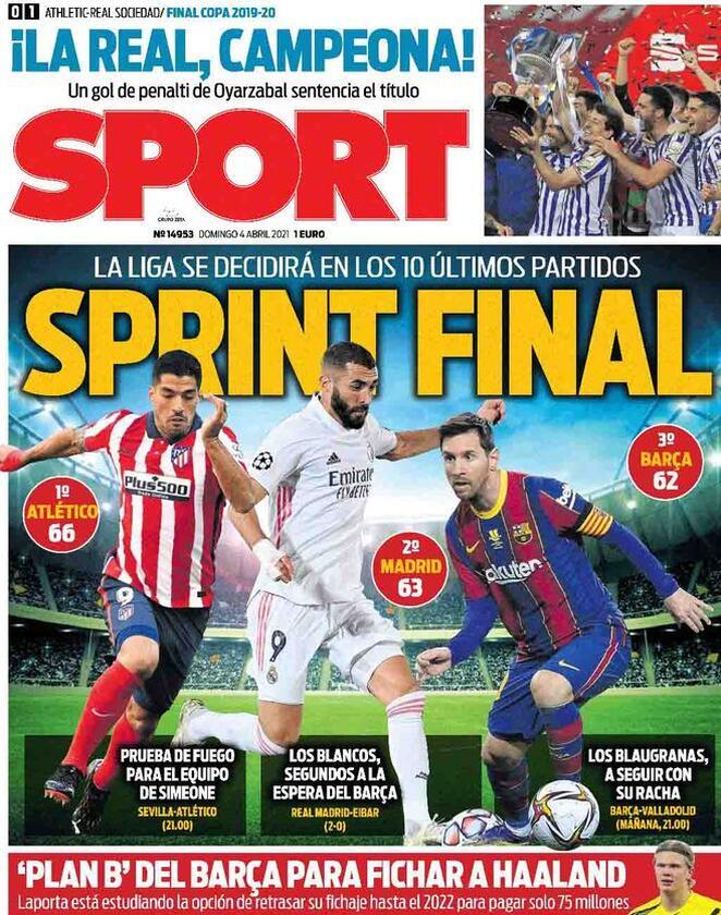 Sport, la prima pagina del 4 aprile 2021