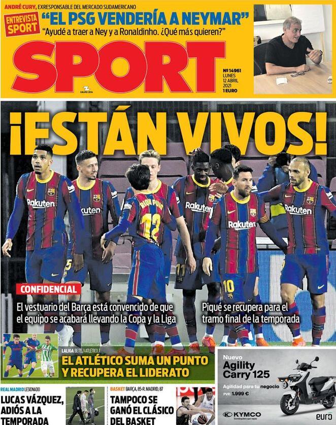 Sport, la prima pagina di oggi 12 aprile 2021