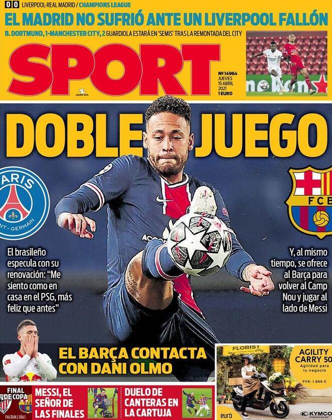 Sport, la prima pagina di oggi 15 aprile 2021