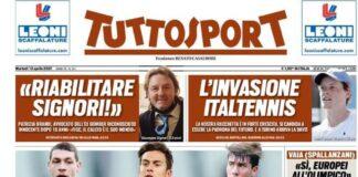 TuttoSport, la prima pagina di oggi 13 aprile 2021