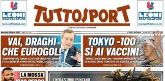 TuttoSport, la prima pagina di oggi 14 aprie 2021