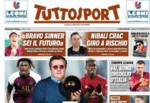 TuttoSport, la prima pagina di oggi 15 aprile 2021