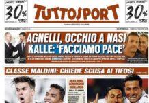 TuttoSport, la prima pagina di oggi 22 aprile 2021