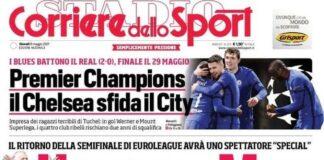 Corriere dello Sport, la prima pagina del 6 maggio 2021