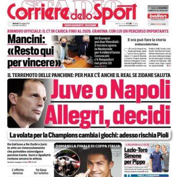 Corriere dello Sport, la prima pagina di oggi 18 maggio