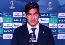 """Roma-Manchester United, Fonseca: """"C'è rammarico, Mourinho corretto"""""""
