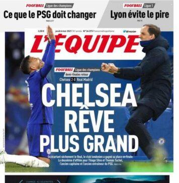 L'Equipe, la prima pagina del 6 maggio 2021