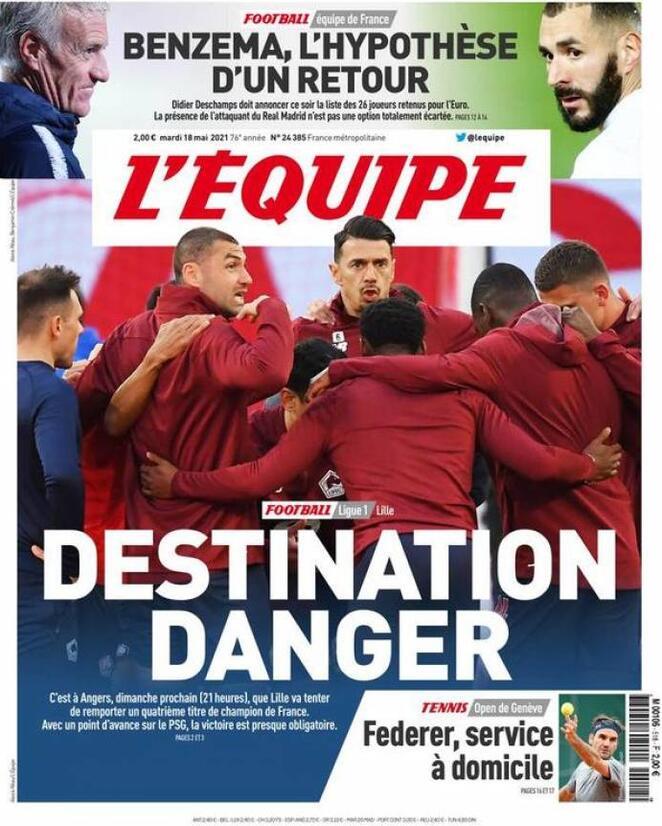 L'Equipe, la prima pagina di oggi 18 maggio