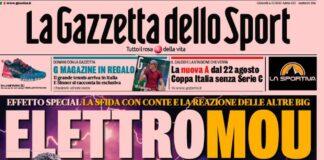La Gazzetta dello Sport, la prima pagina di oggi 6 maggio