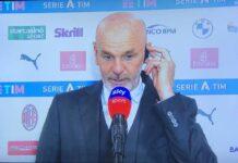 """Milan-Cagliari, Pioli: """"Arrivare quinti farebbe la differenza"""""""