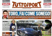 TuttoSport, la prima pagina di oggi 18 maggio
