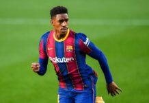 Junior Firpo col Barcellona