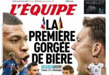 L'Equipe, la prima pagina di oggi 15 giugno 2021