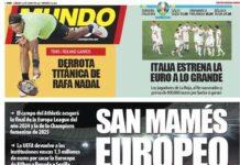 Mundo Deportivo, la prima pagina di oggi 12 giugno 2021