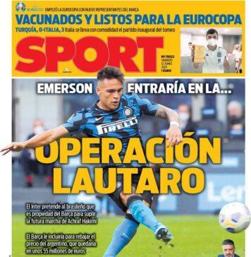 Sport, la prima pagina di oggi 12 giugno 2021
