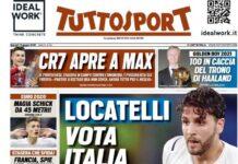 TuttoSport, la prima pagina di oggi 15 giugno 2021