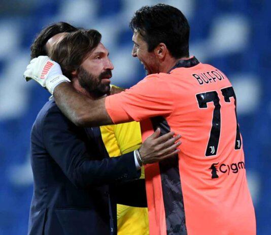 """Juventus, Buffon: """"Pirlo? Qualsiasi altra squadra starebbe festeggiando"""""""