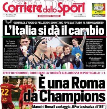 Corriere dello Sport, È una Roma da champions