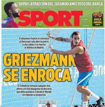 Sport, la prima pagina di oggi sabato 24 luglio 2021